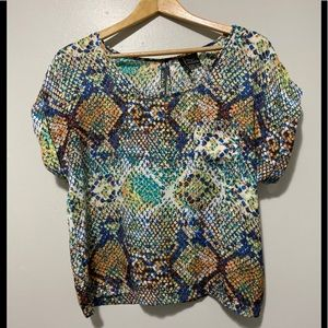 ▫️Fire Los Angeles Colourful Snake Pattern Top▫️